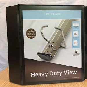 """Other - New 5"""" Heavy Duty Binders with View Black"""